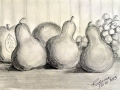 Still life with my favorite subject, pears